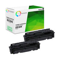 2PK TCT Premium 055H 3020C001 Black High Yield Compatible Toner For Canon