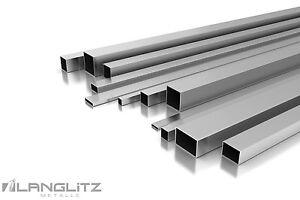 Korn 240 V2A L/änge 2000 mm Abmessungen 80 x 80 x 2 mm Edelstahl Rohr Quadrat//Vierkant Oberfl/äche geschliffen FRACHTFREI