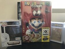 1 Box Protector .50mm Thick - SUPER MARIO ODYSSEY CEREAL LIMITED NINTENDO AMIIBO