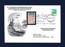 Ted Crosby signed WWII Ace first day cover