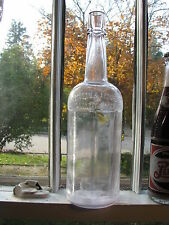 Detroit, Mich. Robinson & Aronheim Whiskey fifth cylinder bottle 8-sided SCA