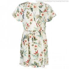 Full Circle AOP Print Wrap Dress Summer Ladies Womens White Multi UK Size 20 *22