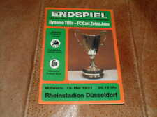 More details for 1981 cup winners cup final dynamo tbilisi v carl zeiss jena excellent condition