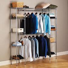 Closet Organizer Wardrobe Portable Storage Shelves Clothes Metal Hanging Shelf