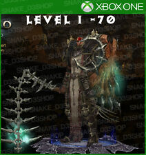 Diablo 3 Xbox One - Fully Modded Set Crusader - Seeker of Light - Level 1 - 70