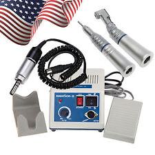 Dental Lab Marathon Micromotor 35K RPM + Contra Angle Straight Handpiece USA-B