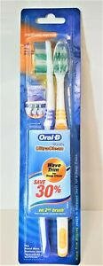 Oral-B Toothbrush Ultra Clean Medium Wave Trim For Deep Clean 2 Pack.