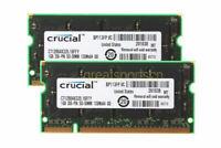 Crucial 2 GB 1GBx2pcs PC2700S DDR-333MHZ 200Pin SODIMM Laptop Memory RAM CL2.5 V