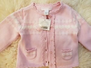 Janie and Jack girl pink cardigan 3-6m