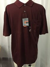 Van Heusen Luxe Quick Dry Mousture Wicking Burgundy Polo Shirt Size XL New! $50