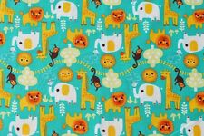 ANIMALS HAPPY JUNGLE BABY QUILTING FABRIC ALLISON COLE CAMELOT COTTONS NEW FQ