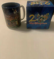 "Vtg Walt Disney World Coffee Mug 16 fl oz ""Celebrate the Future Hand in Hand"""