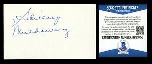 Shirley Muldowney signed autograph 3x5 card First Lady of Drag Racing BAS Cert