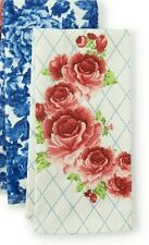 Pioneer Woman Cotton Heritage Floral, Frontier Rose Kitchen Hand Towel Set of 2