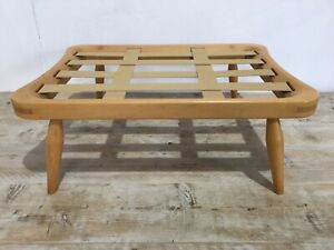 Vintage Ercol Blonde Gold Label Footstool (No Cushion)