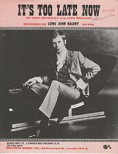 It's Too Late Now - Long John Baldry - 1969 Sheet Music