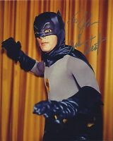 ADAM WEST SIGNED AUTOGRAPHED BATMAN COLOR PHOTO BAM ZOOM!! TO JOHN
