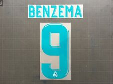BENZEMA 9 REAL MADRID HOME NAMESET FLOCAGE TRANSFERT SPORTING ID 17-18
