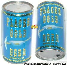 1970's CALIFORNIA PLACER GOLD FLAT TOP BEER CAN AUBURN,CA.TREASURE HUNT PICK+PAN