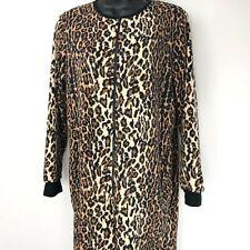 Nick Nora Medium Cat Leopard Animal Footie Fleece Pajama One Piece Union Suit