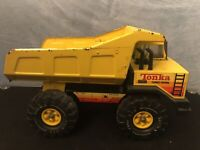 Vintage Mighty Tonka Turbo-Diesel Yellow Dump Truck Construction Toy. #3901