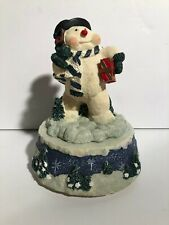 Musical Snowman Wind Up Music Statue - Plays Frosty The Snowman Christmas Winter