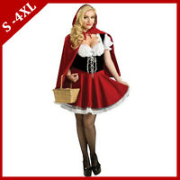 Fairytale Little Red Riding Hood Halloween Cosplay Costume Women Fancy Dress
