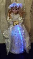 Elambia LUMIDA Casa Puppenfigur Fiberglas LEDs Farbwechsel H. ca.47cm weiß