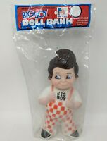 "Vintage Bob's Big Boy 9"" Doll Bank 1970's Vinyl Factory Sealed NOS"