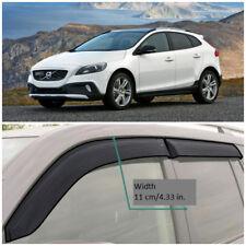 VE11212 Window Visors Vent Wide Deflectors For Volvo V40 Cross Country 2012-