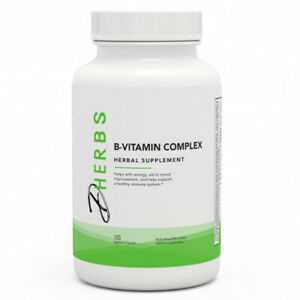 Dherbs B-Vitamin Complex, 100-Count Bottle