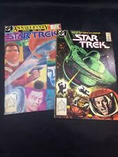 Star Trek # 49 & 50 Anniversary Issue DC Comics Kirk Spock McCoy TOS  1980s