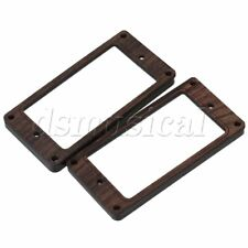 """2x 3.62"""""""" Rosewood Humbucker Pickup Mounting Ring for Electric Guitar Durable"""