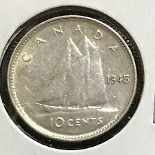 Canada 10 Cents KM 34 AU 1945