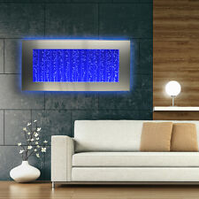 Horizontal Bubble Wall Mount LED Lighting Indoor Water Feature Fountain 45""