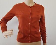 J Crew Copper Brown Merino Wool 4 pocket Size S Long Sleeve Button Down Cardigan