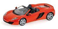MINICHAMPS 530 133030 McLaren MP4-12C SPIDER model car orange 2012 Ltd 1:43rd