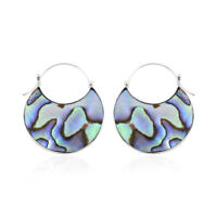 925 Sterling Silver Abalone Shell Hoops Hoop Earrings Jewelry Gift For Women