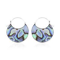 925 Sterling Silver Abalone Shell Hoops Hoop Earrings Jewelry Gift For Women
