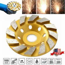 "4"" Diamond Segment  Grinding Wheel Angle Cup Grinder Disc Concrete Granite Stone"