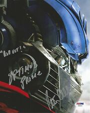PETER CULLEN AUTOGRAPHED SIGNED TRANSFORMERS OPTIMUS PRIME PSA/DNA 8X10 PHOTO