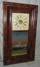 New ListingAntique J.C. Brown 8 Day Ogee Clock, Smithsonian Institute Glasses, Running