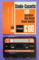 MC Musicassetta GRUNDIG LHS C 60 vintage compact cassette tape USATA no agfa tdk
