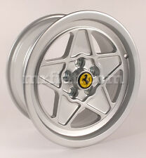 "Ferrari Mondial 8 QV 3.2 Silver Five Spoke 7+8 x 16"" Wheel Set 4 Pcs New"