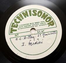 QUINTETTE FEMININ DE PARIS Henry Dillon quintet n°2 UNISSUED ACETATE 3 x 78 rpm