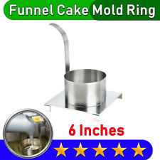 Funnel Cake Mold Ring Stainless Steel 6 Diameter Free Amp Fast Shipping