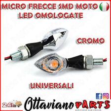2 FRECCE OMOLOGATE BULLET Cromo per MOTO CAFE RACER CUSTOM LED UNIVERSALI M72