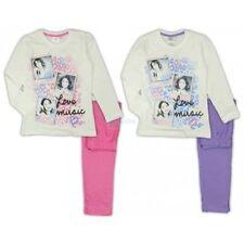 Violetta disney pigiama cotone manica lunga 7 anni 122 cm bianco e rosa