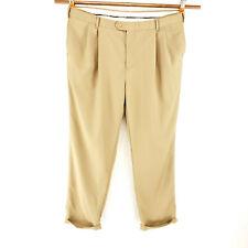 Jos A Bank 42x32 David Leadbetter Pleated Cuffed Lightweight Dress Pants Golf