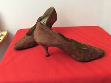 Rush Hour Womens Size 8 B Rush Hour Brown Suede Pumps Shoes (B23)
